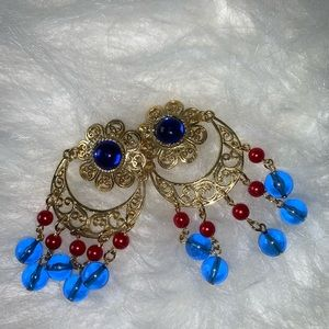 Boutique MultiColor Clip On Earrings